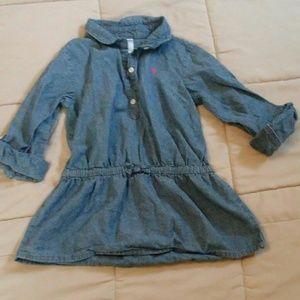 ☀🌺 5/$15 Carters Denim Like Dress